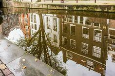 Onderzijde achterburgwal reflection, Amsterdam