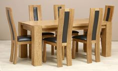 Zeus Rectangle Dining Table & 6 Chairs