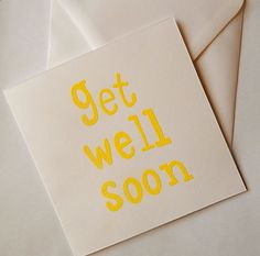 Handmade, get well soon card, thinking of you card, poorly card, not feeling well card - pinned by pin4etsy.com