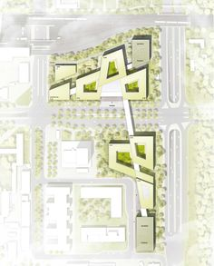 © Atelier Loidl Landschaftsarchitekten Berlin GmbH/ HENN The Plan, How To Plan, Landscape Concept, Landscape Plans, Architecture Site Plan, Planer Layout, Urban Design Plan, Bathroom Floor Plans, Social Housing