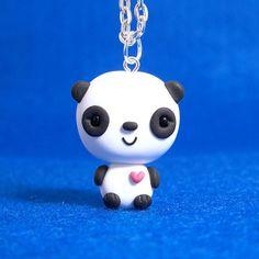Panda Chibi Necklace by Jenn and Tony Bot, via Flickr
