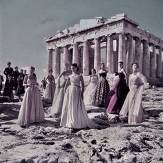 In 1951, the famous French haute couture designer Christian Dior chose the Acropolis of Greece to photo-shoot his latest fashion collection.