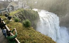 Spectators on a free observation deck take in the view of Snoqualmie Falls during a period of high runoff. Salish Lodge is at left. Day Trips From Seattle, Seattle Area, Seattle Sights, Seattle Travel, Travel Route, Places To Travel, Places To Go, Canada Travel, Travel Usa