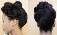 cute natural hair updo