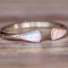 BACK IN STOCK SOON || One of our best sellers 'Silver Mermaid Tail Opal Ring' || Register your interest at www.indieandharper.com to receive an email when it's back