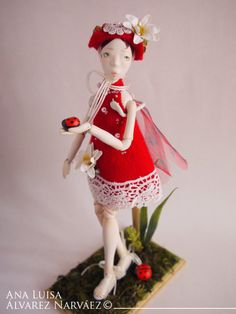 LadyBug handmade Ball Joint Doll by Anna Luisa of MunesShop on Etsy