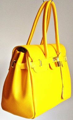 Handbag Bliss Beautiful Yellow Italian Super Soft Leather Backpack / Shoulder Bag (New Style Winter Hermes Birkin, Italian Leather, Leather Backpack, Bucket Bag, Bliss, Winter Fashion, Backpacks, Shoulder Bag, Inspired