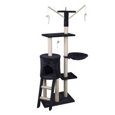 Sliverylake 54' Cat Tree Condo Furniture Scratcher Post Play Toy Pet House Kitten Tower ** Save this wonderfull item : Cat tower