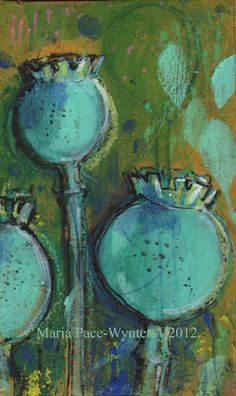 Poppy Traces- Original painting by Maria Pace-Wynters.