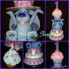 """""""Blue's Clues"""" - Giant Cupcake 1st Birthday custom Cake - Bittersweet Bake Shoppe - Tyngsboro, Massachusetts 01879"""