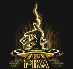 Pikachu and TRON, in one t-shirt design? It's like I'm in heaven. - via RIPT Apparel Super Smash Bros, Star Wars, Minions, Black Pokemon, Geek Games, Video Game Art, Video Games, Illustrations, Graphic Tees