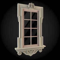 Window 016. House 3D model. #3D #3DModel #3DDesign #3DScene #apartment #architecture #building #classicism #design #exterior #house #interior #render #v-ray #window