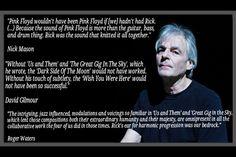 Richard Wright – The bandmates words.