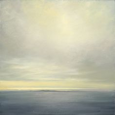 """Eline Barclay, """"Bay of Fundy"""", 26"""" x 26"""", Oil on linen.  Part of the group exhibition: """"Last Light: Waiting for the Moon"""".  On display April 3, 2014 to May 31, 2014."""