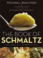 The Book of Schmaltz: Love Song to a Forgotten Fat - The definitive book on schmaltz--a staple in Jewish cuisine and a thread in a great tapestry, by one of America's most respected culinary writers.For culinary expert Michael Ruhlman, the ultimate go. Mousse, Top Cookbooks, Jewish Recipes, Passover Recipes, Man Food, Corned Beef, Vegan, Along The Way, Recipe Using