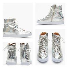 Hologram Ziggy Sneaker    #jeffreycampbell #jeffrey #campbell #shoes #fashion #trend #cool #cute #hot #fresh #love #hologram #silver #sneaker