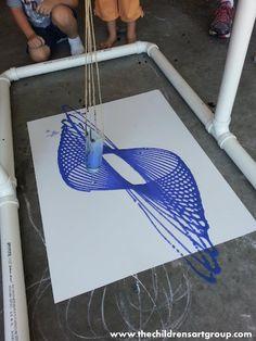 Pendulum Paintings! I did this last year. I need to improve my method!