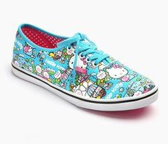 0bdb0b60e066af VANS x Hello Kitty Adult Women s Authentic Lo Pro  Blue Hello Kitty Vans