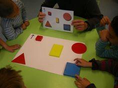 copiar un model fet amb blocs logics Toddler Activities, Preschool Activities, I Love School, Picture Cards, Working With Children, Kindergarten Math, Math Centers, Montessori, Circle Time