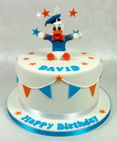 Donald Duck Birthday Cake 07917815712 www.facebook.com/fancycakeslinda www.fancycakesbylinda.co.uk