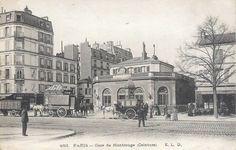 Les gares du Paris d'antan La gare de Montrouge-Ceinture (14ème arrondissement) vers 1900.