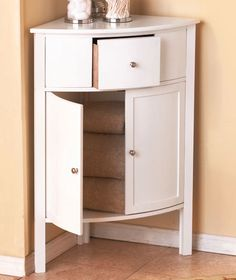 take advantage of un-used space with this cabinet, perfect for storage in bathroom, hallway or bedroom.