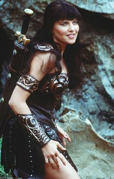 Lucy Lawless as Xena in Xena: Warrior Princess (1995–2001)