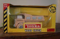 Tonka 2001 Classic Wood Large Dump Truck No. 34000 Handcrafted Solid Wood 3-93 #Tonka #Tonka