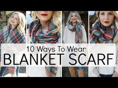 How to Wear a Scarf: 10 Cashmere Styles - YouTube