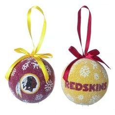 Washington Redskins Team Color Swirl Ornament 3 | Nfl team ...