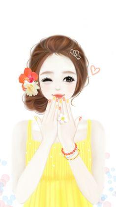 รูปภาพ girl, Enakei, and kawaii Korean Illustration, Cute Illustration, Cute Cartoon Girl, Cartoon Art, Anime Korea, Girly M, Lovely Girl Image, Cute Girl Drawing, Anime Lindo