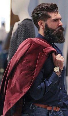 Stylish bearded.