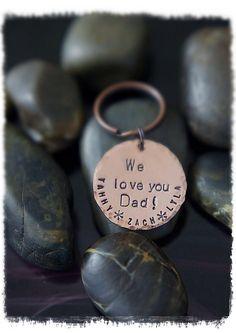 SALE  Love You Dad Keychain  Copper Keychain  by DistinctlyIvy, $16.00