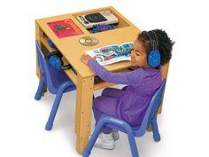 #LakeshoreDreamClassroom Space-Saver Listening Center Table
