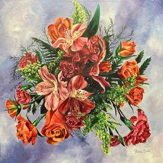 Birthday | Floral Series Birthday, Floral, Painting, Art, Art Background, Birthdays, Flowers, Painting Art, Kunst