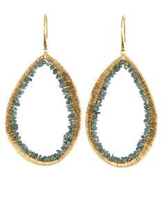 Dana Kellin  - Teal Blue Diamond Earrings