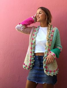 Free Ideas Gorgeous Crochet Cardigan Patterns for Women New 2020 - Page 17 of 30 - crochetsample. com : crochet cardigan; Crochet Coat, Crochet Cardigan Pattern, Crochet Jacket, Crochet Shawl, Easy Crochet, Crochet Clothes, Crochet Vests, Shrug Pattern, Crochet Designs