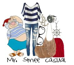"""""""Mr. Smee casual"""" by addicted-to-disney ❤ liked on Polyvore featuring art"""