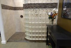 Curved glass block shower wall with ready for tile base Cleveland Ohio - Traditional - Bathroom - cleveland - by Innovate Building Solutions Mold In Bathroom, Bathroom Faucets, Master Bathroom, Shower Bathroom, Bathroom Ideas, Shower Ideas, Bathtub, Shower Wall Panels, Shower Screen
