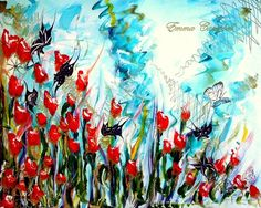 BUTTERFLY POPPY by Emma Campbell on ArtClick.ie Abstract Contemporary Art