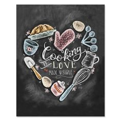 food & kitchen illu Cooking Is Love Made Visible Print Kitchen Decor Kitchen Chalkboard Art Kitchen Art Illustration Print For the kitchen Chalk Art Art Chalk art food chalkboard Cooking Decor Food illu illustration kitchen Love Print Visible Chalkboard Art Kitchen, Chalkboard Print, Chalkboard Decor, Chalkboard Lettering, Kitchen Prints, Kitchen Art, Kitchen Decor, Kitchen Canvas Art, Chalk Marker