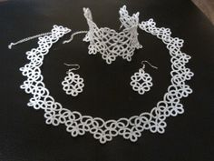 Hand crafted jewelry necklace bracelet and earrigs. by Timeacraft, €100.00