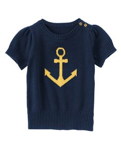 Sparkle Anchor Short Sleeve Sweater at Gymboree