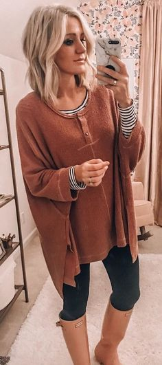 brown sweater Fall Outfits ideas for Winter fashion 2019 Rosa Pullover, Beige Pullover, Casual Outfits, Cute Outfits, Fashion Outfits, Womens Fashion, Outfits 2016, Fall Winter Outfits, Autumn Winter Fashion