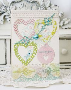 Missing You Card by Melissa Phillips for Papertrey Ink (January 2013)