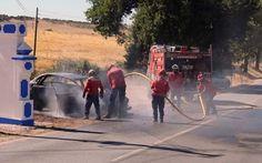 Veículo ligeiro incendiou-se esta tarde em São Vicente   Elvasnews