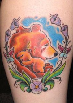LOVE this so much - we are the bear family and this is such a beautiful tattoo