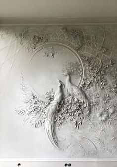 Artist Brings Rooms to Life With Impressionist-Inspired Relief Sculptures on Walls : High Relief Sculpture by Goga Tandashvili Plaster Art, Plaster Walls, Plaster Mouldings, Mural Art, Wall Murals, Wall Sculptures, Sculpture Art, Inspiration Art, Relief