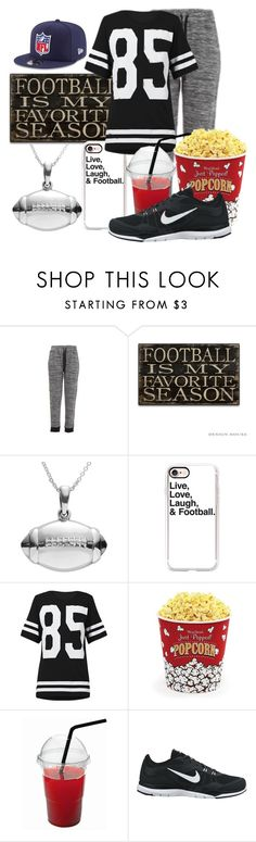 """Football Season (In America?)"" by hipstermonkey12 ❤ liked on Polyvore featuring Journee Collection, Casetify, West Bend, NIKE and New Era"