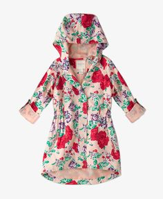 Hooded Floral Anorak | FOREVER21 girls -